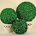 Buchsbaumkugel Plastikpflanze Künstliche Pflanze Ø 50 cm Deko für Innen und Außen von Fire4u auf Du und dein Garten