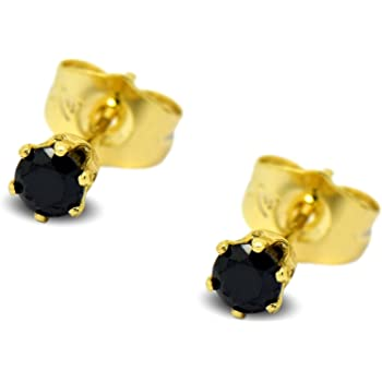 9340173359213 Blue Diamond Club - Tiny 9ct Yellow Gold Filled Womens Stud Earrings ...