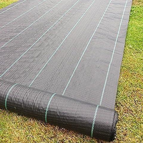 Jardin Mile® 2m x 10m Tissu anti mauvaises herbes Ultra