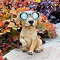 Gärtner Pötschke Gartenfigur Hund mit Solarlicht Klein-Waldi von Gärtner Pötschke - Du und dein Garten