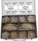 TORX Schraubensortiment, 1400 Stck Spanplattenschrauben im Koffer, 3,0x16-4,0x70