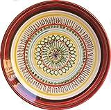 Piatto geometrico-Dimensioni del piatto di ceramica 16,4 centimetri circonferenza-MADE in ITALY Toscana Lucca, certificato.