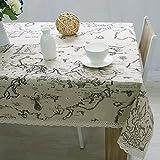 Bluelover Weltkarte Tischdecke Hochwertige Spitze Tischdecke Dekorative Elegante Tischdecke Leinen Tisch Decken - 60 * 60Cm