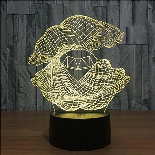 XH & YH 3d Shell Night Light estéreo creativo con 5lámparas de...