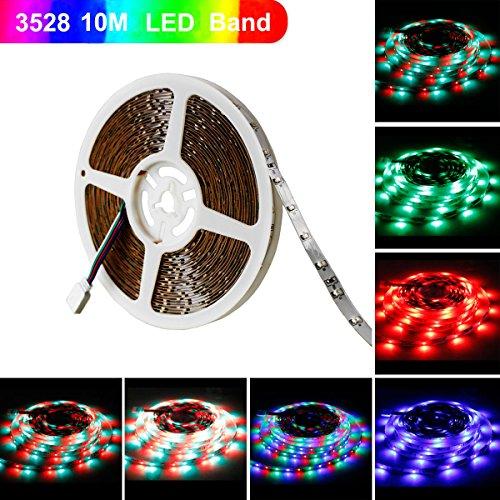 Ruban LED, Sparke 10M 3528 RGB Multicolore SMD 600 LED Bande Flexible Lumineux Strip Light pour Décoration Intérieure, Eclairage Design et Moderne Salon, TV, Bar, meubles