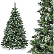 FAIRYTREES Albero di Natale artificiale PINO, Bianco
