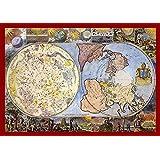 Karte der Himmel und der Erde (1699) Leinwand