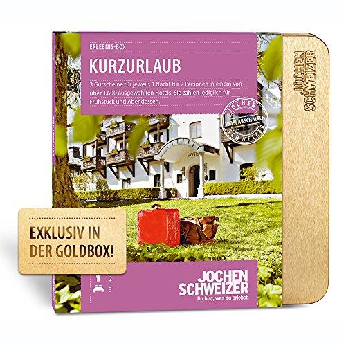 Jochen Schweizer Erlebnis-Box Hotelgutschein 'Kurzurlaub für 2' inklusive 3 Übernachtungen für 2 Personen
