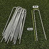 Spilli da giardino a forma di U per prato artificiale picchetti di fissaggio per telo pacciamante in tessuto in rete, (6 15,24 cm, 15 cm