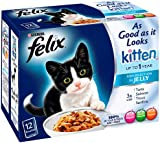 Felix Kitten As Good As It Looks Fish Pouch 12 x 100 g (Pack of 4)