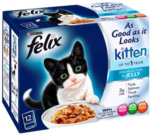 Felix As Good As It Looks Kitten Cat Food Fish In Selection 12x100g (Case of 4) 1
