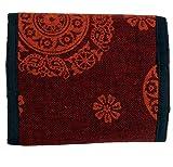 Guru-Shop Portemonnaie Mandala, Herren/Damen, Rot, Baumwolle, 10x12 cm, Börsen aus Stoff, Hanf & Brokat