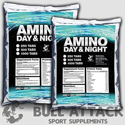1000 Tablets x BCAA + GLUTAMINE Mega Amino Acids Anabolic PROTEIN BODYBUILDING PACK - 1st CLASS UK P&P by BULL ATTACK