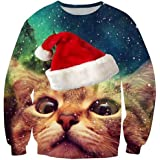 Fanient Unisex Pullover Weihnachtspulli Ugly Weihnachtspullover Pulli 3D Gedruck Muster Rundhals Langarmshirt
