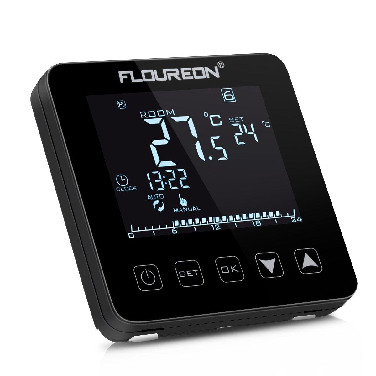 Floureon Digital Raumthermostat Thermostat elektrische Heizung ...