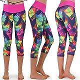 Formbelt Leggings sportivi da donna a tre quarti con marsupio per cellulare Pantaloni da corsa Fitness Sport Fuseaux colorati