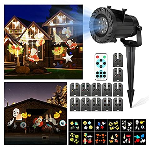 LED Christmas Light,CAMTOA HD Christmas LED Projector/12 Slides Multi Dynamic Lighting Landscape Led Projector/Christmas Garden Light/House Light/Christmas Lamp/Path Light/Fairy Hanging Light/Lantern-IP65 Waterproof,Remote Control,Cold Resistance,For Christmas,Halloween,Decoration,Garden,Parties,Wedding,Restaurant,Family Gathering,Landscape,Indoor Application, Any Festival &
