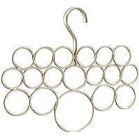 InterDesign Axis cintre à foulard avec 18 boucles, rangement à suspendre en métal pour foulards, fichus, cravates…