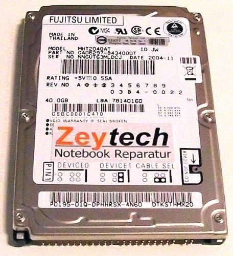 Fujitsu MHT2040AT 40GB Ultra-ATA/100 Interne Festplatte - Interne Festplatten (2.5 Zoll, 40 GB, 4200 RPM, Ultra-ATA/100, 2 MB)