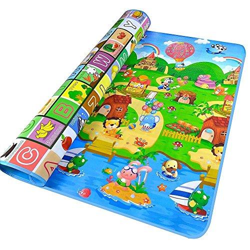 MMRM 2mx1.8m Joven Bebé estera del juego del Suelo Actividad interesante Farm Alfombra para niños Alfombra