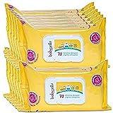 Babygella Salviettine Detergenti per Pelle Bambino, Pulizia Quotidiana, 12 Confezioni da 72 Salviettine - 4560 Gr