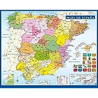 Grupo Erik Editores MP0001-Mini Map of Spain Poster, 40x 50cm