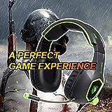SADES SA708 verdrahtet 3,5 mm Audio Stecker Gaming Headset Kopfhörer Gaming mit Mikrofon (grün) - 8