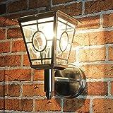 """'""""Flensburg lampada da parete per esterni in acciaio inox cromato/E27fino a 60W 230V IP44/esterno della lampada da parete Come Lanterna per una perfetta illuminazione per Hof e Giardino"""