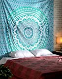 Mandala Tapisserie Chambre Decoration Murale Hippie Bohème Indienne turquoise Wall Tapestry Décoratives Coton Mandala Tissu By Rajrang