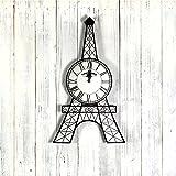 De la torre Eiffel reloj de pared estilo elegante dibujo relojes reloj de Creative reloj de pared decoración para el hogar
