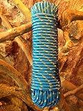 Nr.12 Blaues Seil,Leine,Schnur,Band,Seile 14 mm x 30 m, Bänder,Schnüre,Rope,Reep,Tauwerk,Tau,Reepschnur,Polypropylen Seil, Polypropylenseil