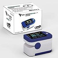 Dr. Vaku Pulse Oximeter Finger Blood Oxygen SpO2 Monitor FDA CE Approved | Make in India (Blue)