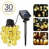 Cadena de Luces,Ubegood 30 Solar LED Luces Guirnarldas 6.5 metros Luces de la Cuerda de la Bola...