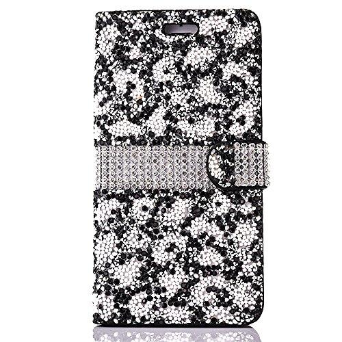 Cassa per Apple iPhone 6/6s 4.7, CLTPY Puro Vintage Belle Luccichio il Rhinestone Serie Portatile Back Cover, Completa Semplice Kickstand Resistenza Disegno Protettivo Case per iPhone 6,iPhone 6s + 1 Black