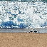 decomonkeyFototapete Fenster zum Meer Strand Sonne 350x256 cm XXL Design Tapete Fototapeten Vlies Tapeten Vliestapete Wandtapete moderne Wand Schlafzimmer Wohnzimmer FOB0064c84XL Vergleich