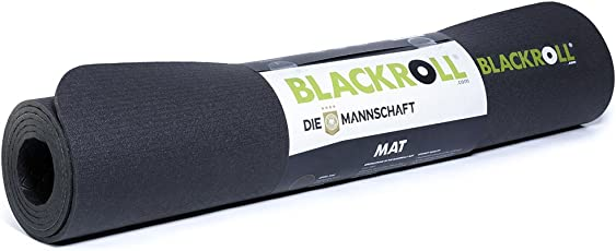DIE MANNSCHAFT BLACKROLL MAT - das Original. Gymnastikmatte in schwarz. Die gedämpfte Matte für Training, Yoga, Pilates