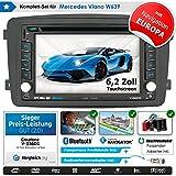 2DIN Autoradio CREATONE V-336DG für Mercedes Viano W639 (2004-2006) mit GPS Navigation (Europa), Bluetooth, Touchscreen, DVD-Player und USB/SD-Funktion
