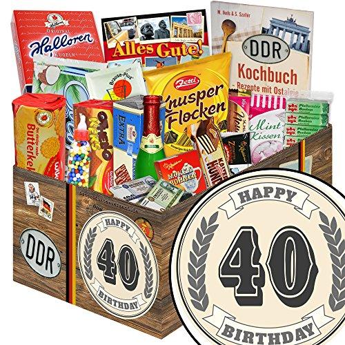 40. Geburtstag | Geschenk zum 40. | 24x DDR Waren | Geschenkset 12
