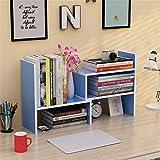 MoMo Einfache Bücherregale Schreibtisch Echtholz Schreibtisch Property Admit Rack Einfache Kombination Bücherregal,Blau