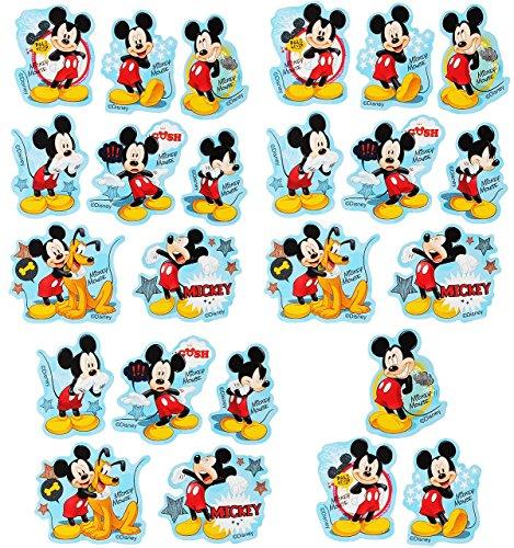 Unbekannt 72 tlg. Set _ Aufkleber / Sticker -  Disney Mickey Mouse  - Selbstklebend - für Jungen & Mädchen - Mäuse / Maus Stickerset Kinder - z.B. für Stickeralbum / Figuren - Playhouse Hund Pluto