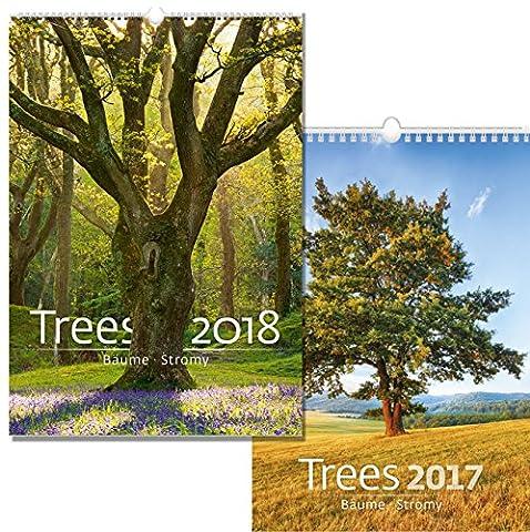 C120-17-18 Kalpa Calendrier mural 2018 Des arbres 31.5 x 45 cm + Acheter 1 Obtenir 1 gratuit Calendrier