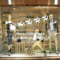 Pegatinas de Navidad, navidad decoracion Navidad Copo de Nieve, pegatinas de pared calcomanías de ventanas Escaparate, Tienda, Oficina ( 2 hojas X 30 *45cm ) (C)