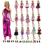 Regalate a vostra figlia 12 abiti e 10 paie delle scarpe da bambola confezionata come i veri abiti e scarpe. Prodotti di marca Miunana autentica. Tutti prodotti hanno passato CE CERTIFICAZIONE, possiamo garantire la sicurezza del prodotto, tutti i pr...