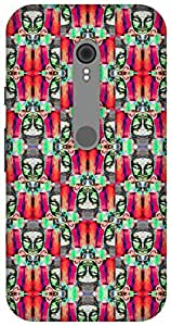 The Racoon Grip printed designer hard back mobile phone case cover for Motorola Moto G Turbo. (psychedeli)