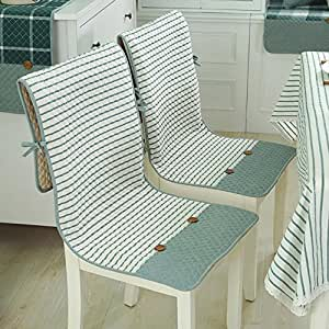 Decorative Cotton Chair Cushion Thin High Back Seat