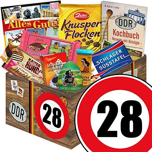 Geschenk zum 28 Geburtstag | Schokolade Geschenk Geburtstag | GRATIS DDR Kochbuch | Schokoladen Geschenke