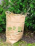 Lot de 10 Sac à Déchets Vert et Organique Papier 100 L