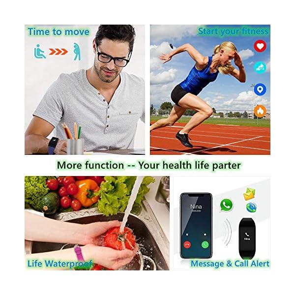 Fitpolo Pulsera de Actividad,Reloj Inteligente para Hombre y Mujer, IP68 Impermeable Reloj Deportivo con Rtmo Cardíaco… 8