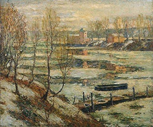Das Museum Outlet–Eis im Fluss, 1907–Poster (mittel) (Eis-skulpturen-buchstaben)