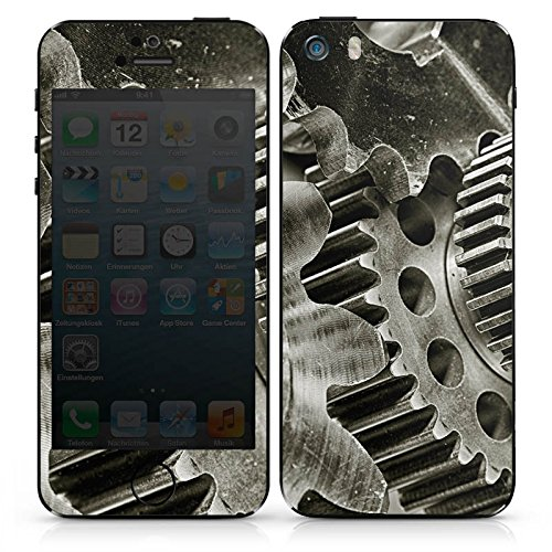 Apple iPhone SE Case Skin Sticker aus Vinyl-Folie Aufkleber Mechanik Zahnräder Getriebe DesignSkins® glänzend